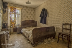 Belgian farm house - The bed is made