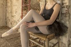 Ballerina - moment van ontspanning -1