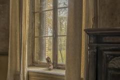château artillery -  Een schoen in het raamkozijn