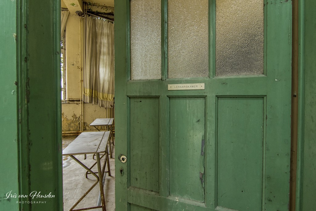 Back to school - Groene deur