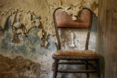 A Chair where the baker of an abandoned Greek bakery used to have lunch -2