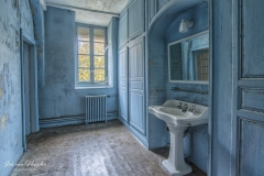 Blue bathroom - The blue bathroom