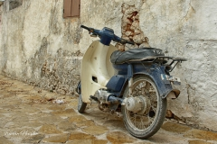 Zakynthos - Moped  in an ancient street -2