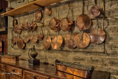All copper pots and pans